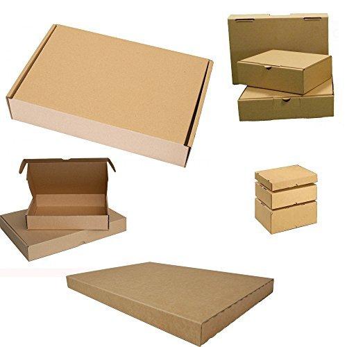 25x Großbrief Kartons Post Warensendung Päckchen Versand Versandkartons Faltkarton Postkarton 350 x 250 x 20 mm -
