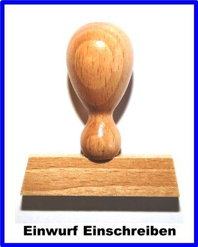 LE-ONs® Holzstempel Professional-Serie L59: Einwurf Einschreiben -