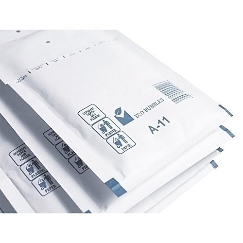 200 x Luftpolstertaschen Versandtaschen Größe A/1 (120 x 175 mm) DIN A6 – Weiss -