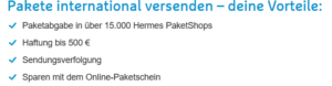 Hermes der internationale Versand
