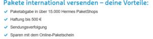 Hermes der internationale Versand